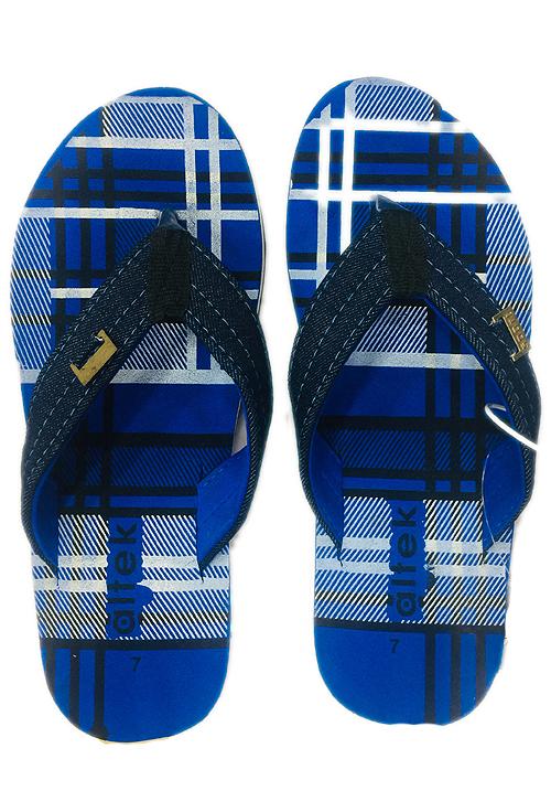 Essentials blue check men footwear