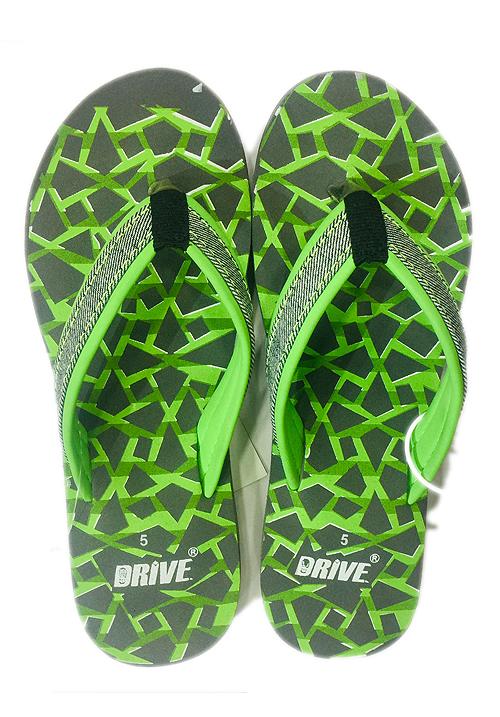 Essentials green printed footwear