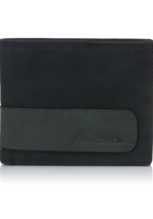 Fastrack Blue Leather Bifold Wallet