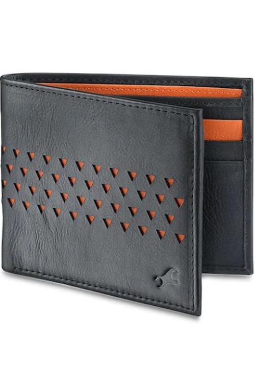 Fastrack Orange Leather Wallet