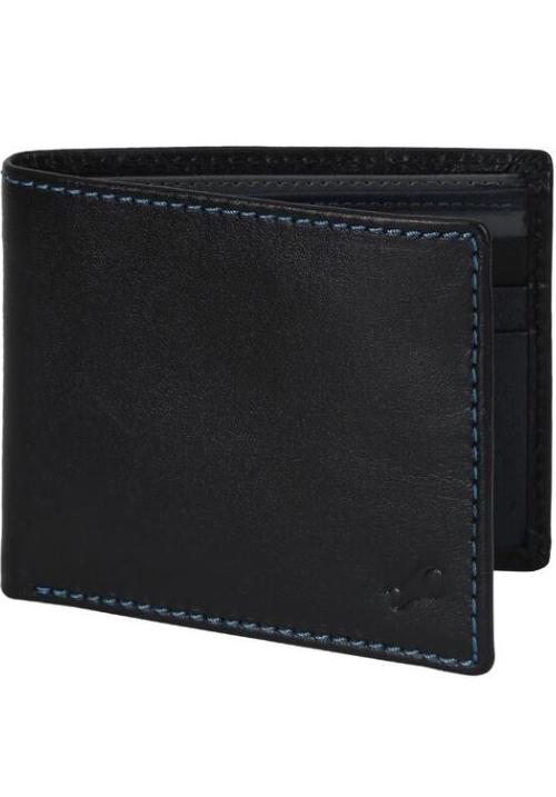 Fastrack Men Blue Leather Wallet