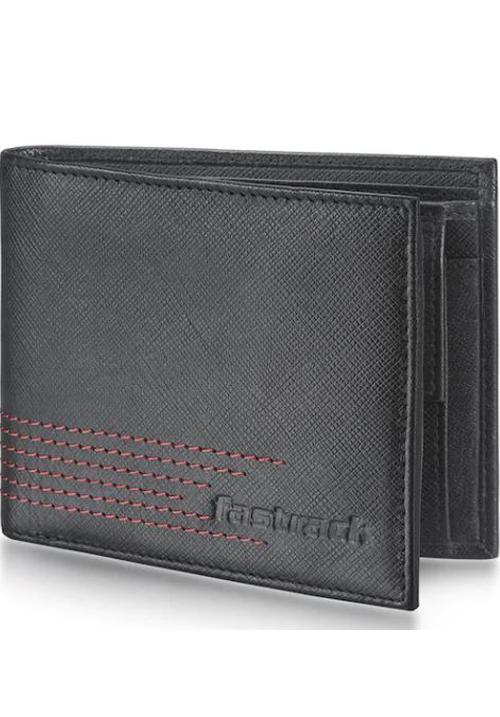 Fastrack Black Leather Bifold Wallet