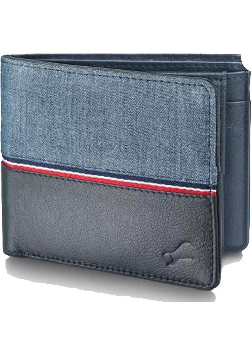 Fastrack Men Blue Genuine Leather Wallet