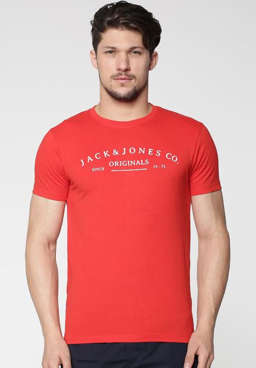 Jack and Jones Street Red T-Shirt