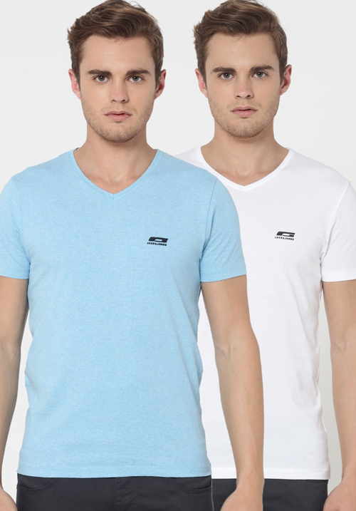 Jack and Jones V-Neck T-Shirts 2PC