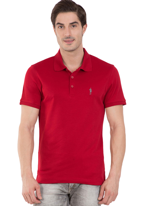 Jockey Polo T-Shirt Red 3912