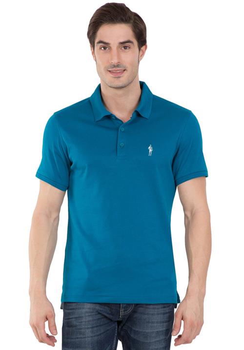 Jockey Polo T-Shirt Teal Blue 3912