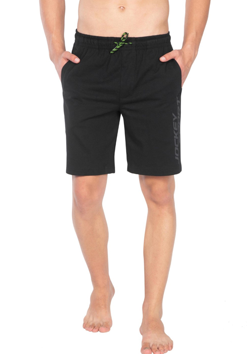 Jockey Straight Fit Shorts Black SP32