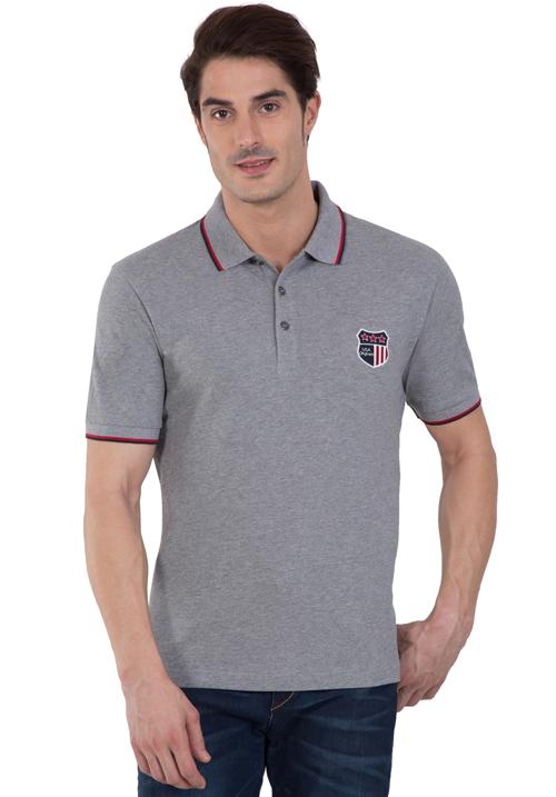 Jockey Wordly Grey Polo T-Shirt