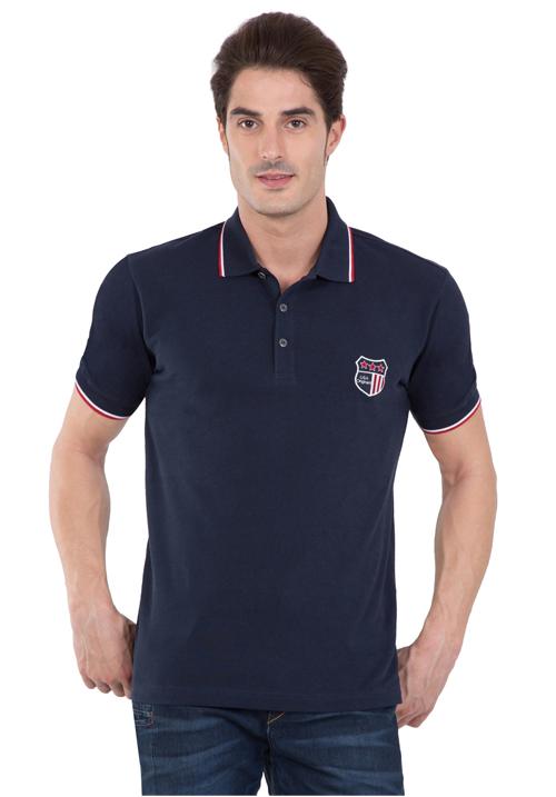Jockey Wordly Navy Polo T-Shirt