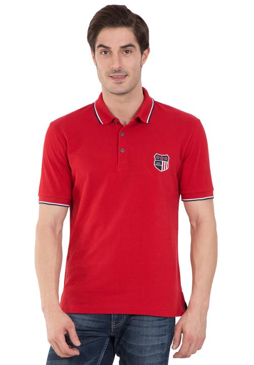 Jockey Wordly Red Polo T-Shirt
