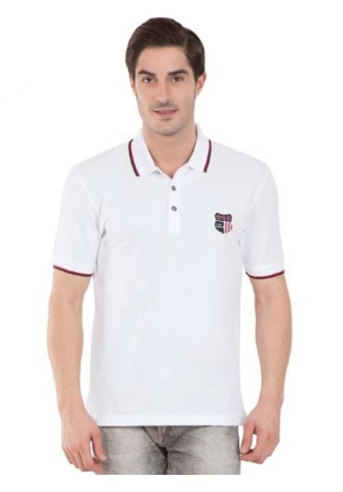 Jockey Wordly White Polo T-Shirt 3912