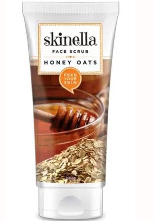 Skinella honey and oats face scrub